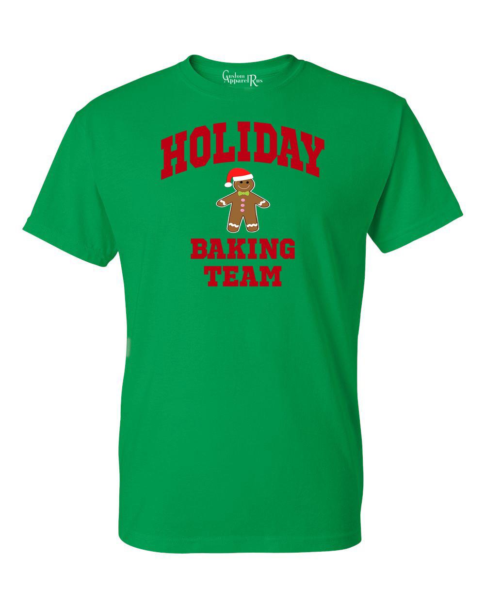Christmas Baking Shirts  Holiday Baking Team Christmas Cookies Mens Womens T Shirt