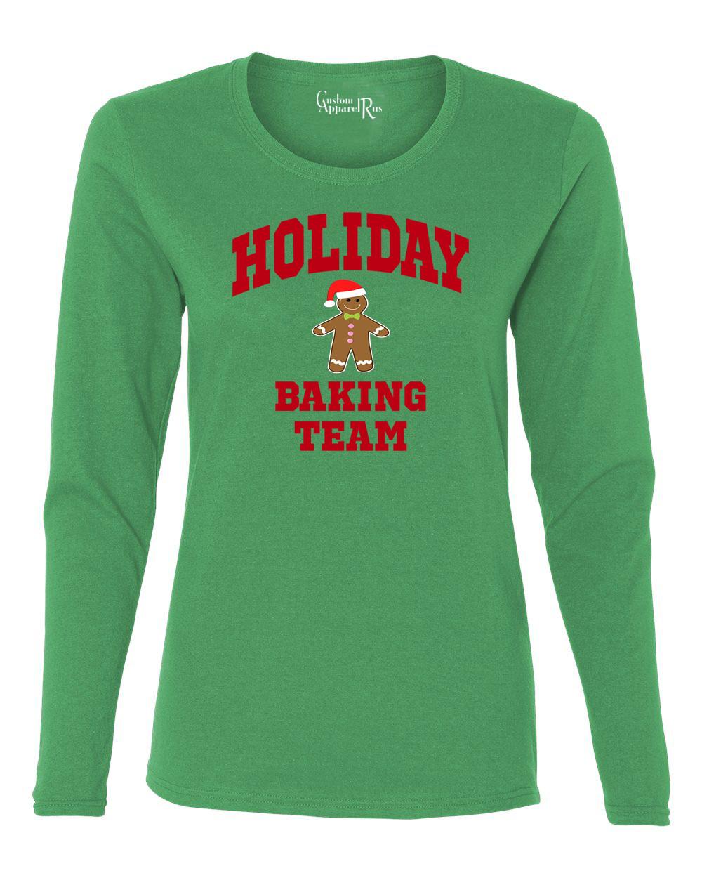 Christmas Baking Shirts  Holiday Baking Team Christmas Cookies Womens Long Sleeve T