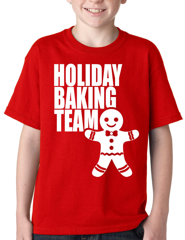 Christmas Baking Shirts  Holiday Baking Team Christmas Cookies Kids T shirt