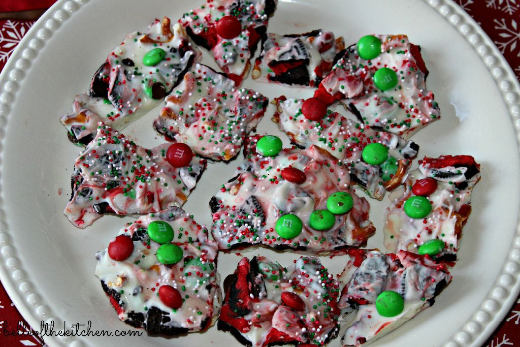 Christmas Bark Candy  Christmas Candy Cookie Bark Belle of the Kitchen