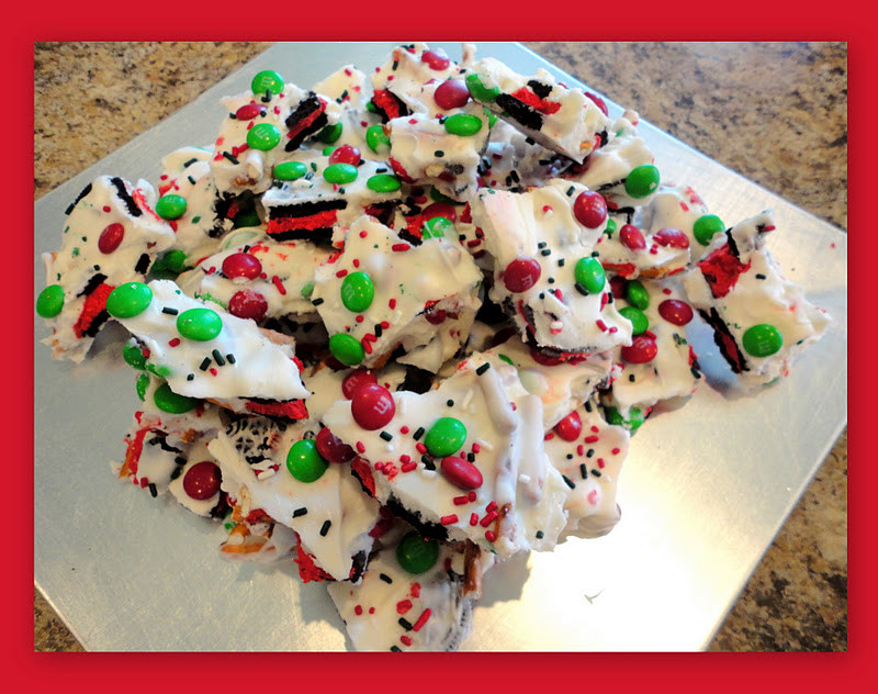 Christmas Bark Candy  Keeping up with the Kitchen Mom Christmas Cookie Bark