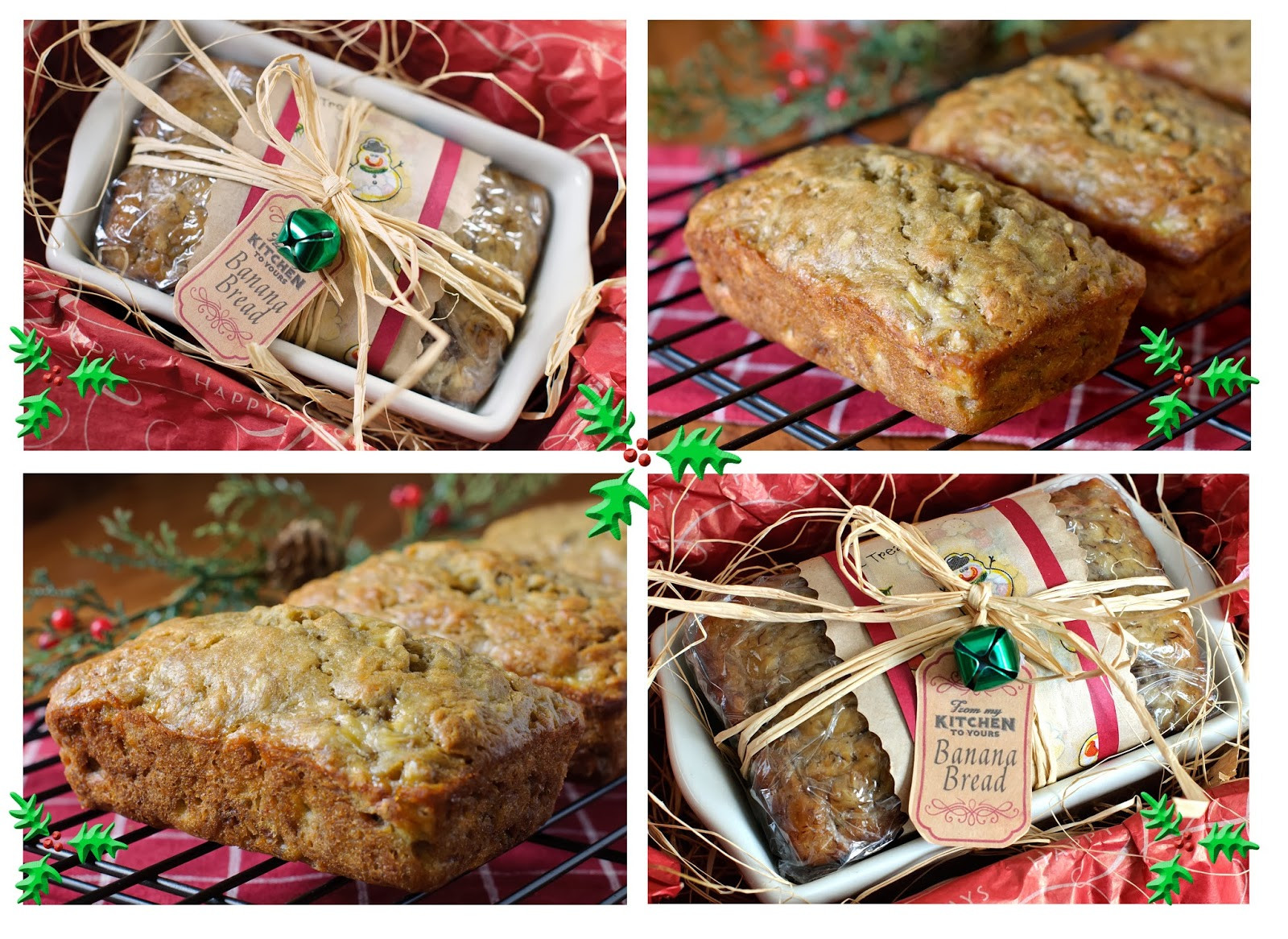 Christmas Bread Gifts  Livin Life e Spoonful At A Time Banana Bread Food Gifts