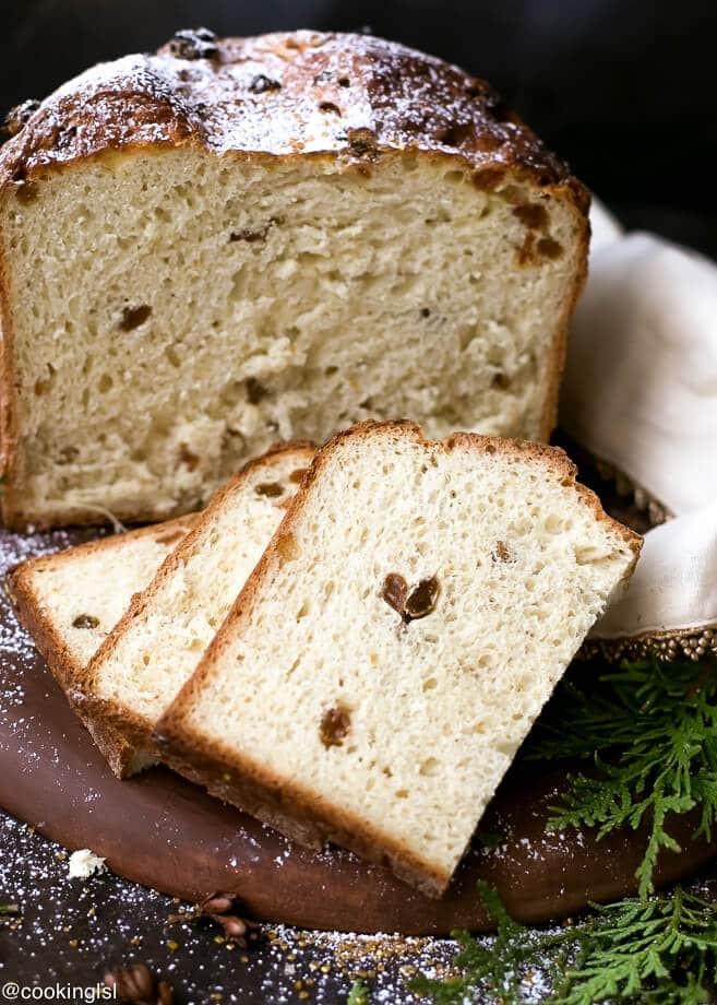 Christmas Bread Recipe  Easy Homemade Italian Christmas Bread Panettone Recipe