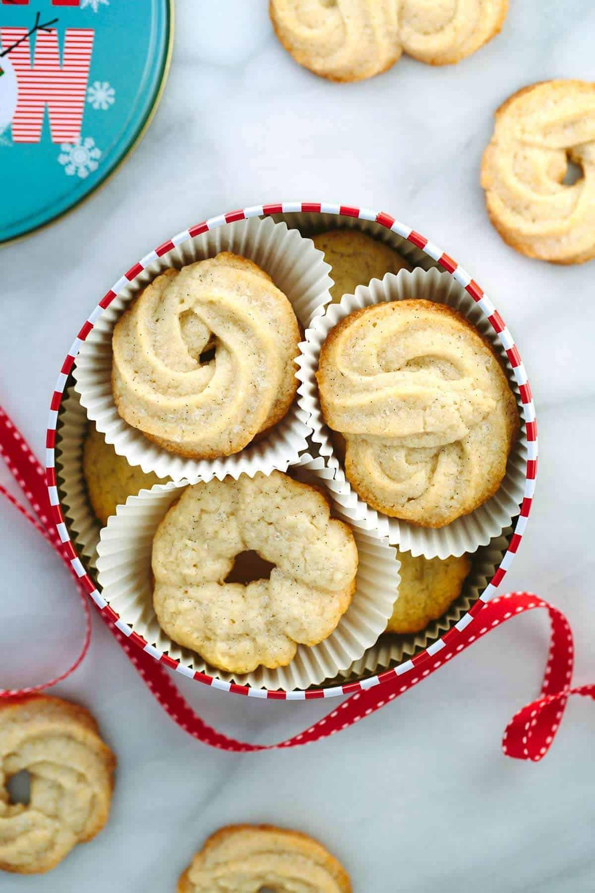 Christmas Butter Cookies  Vanilla Bean Danish Butter Cookie Recipe Jessica Gavin