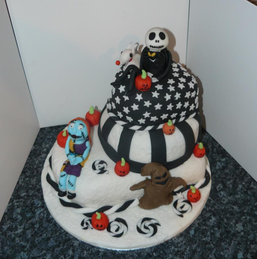 Christmas Cake And Cupcakes  Nightmare before Christmas Cake and Cupcakes cake by