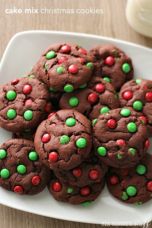 Christmas Cake Cookies  Cake Mix Christmas Cookies