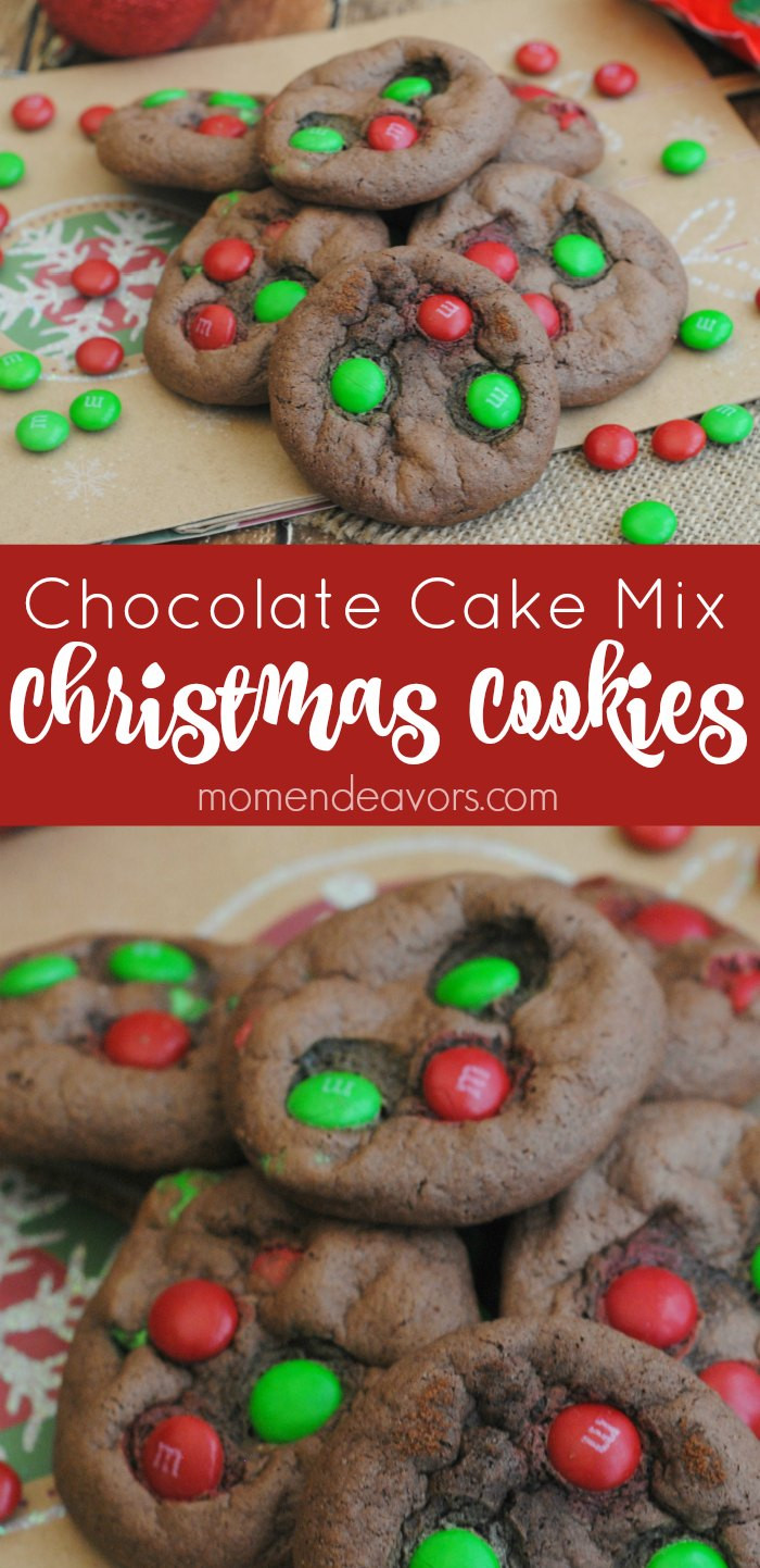 Christmas Cake Cookies  Chocolate Cake Mix Christmas Cookies
