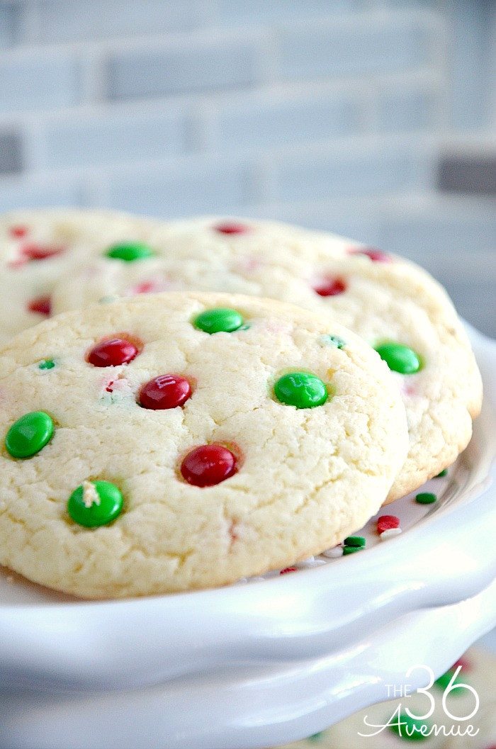 Christmas Cake Cookies  Christmas Cookies Funfetti Cookies The 36th AVENUE