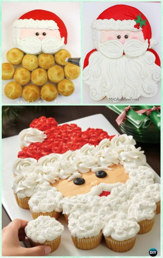 Christmas Cake Cupcakes  2509 best Cupcake Cakes Cupcake Pull Apart Cakes images