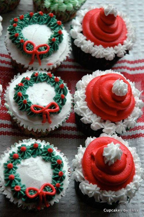 Christmas Cakes And Cupcakes  30 Easy Christmas Cupcake Ideas
