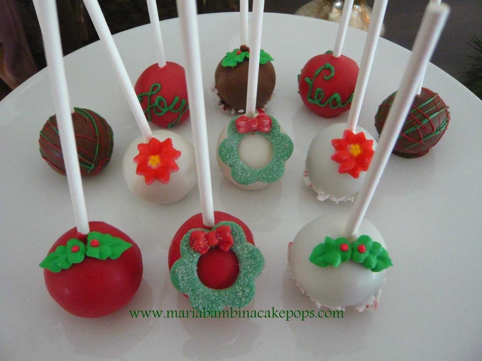 Christmas Cakes Flavors  Maria Bambina cake pops and more Seasonal Flavors
