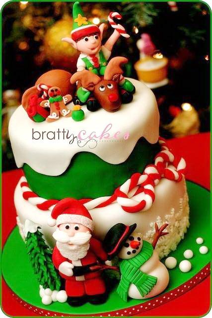 Christmas Cakes For Kids  Unique Art Christmas Cake Ideas [P2] – Easy Home Bakery