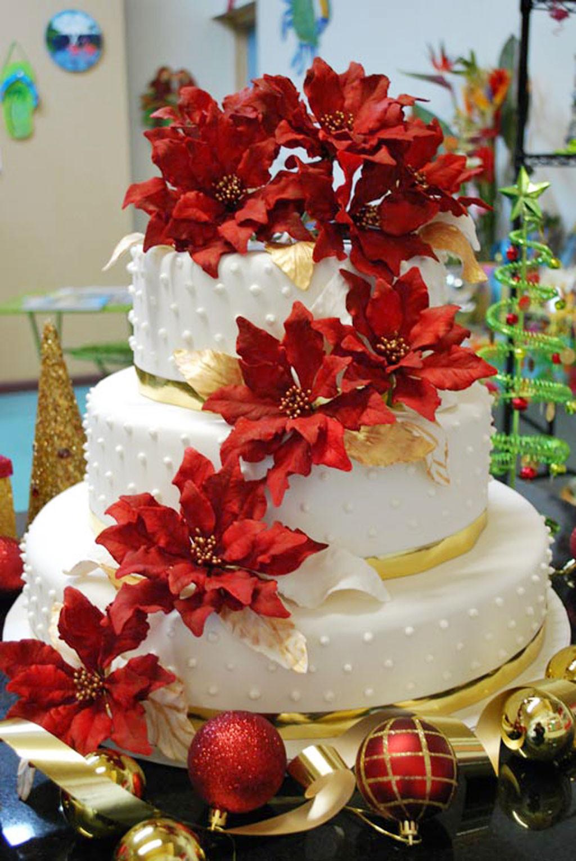 Christmas Cakes Images  Christmas Wedding Cakes Pinterest Wedding Cake Cake