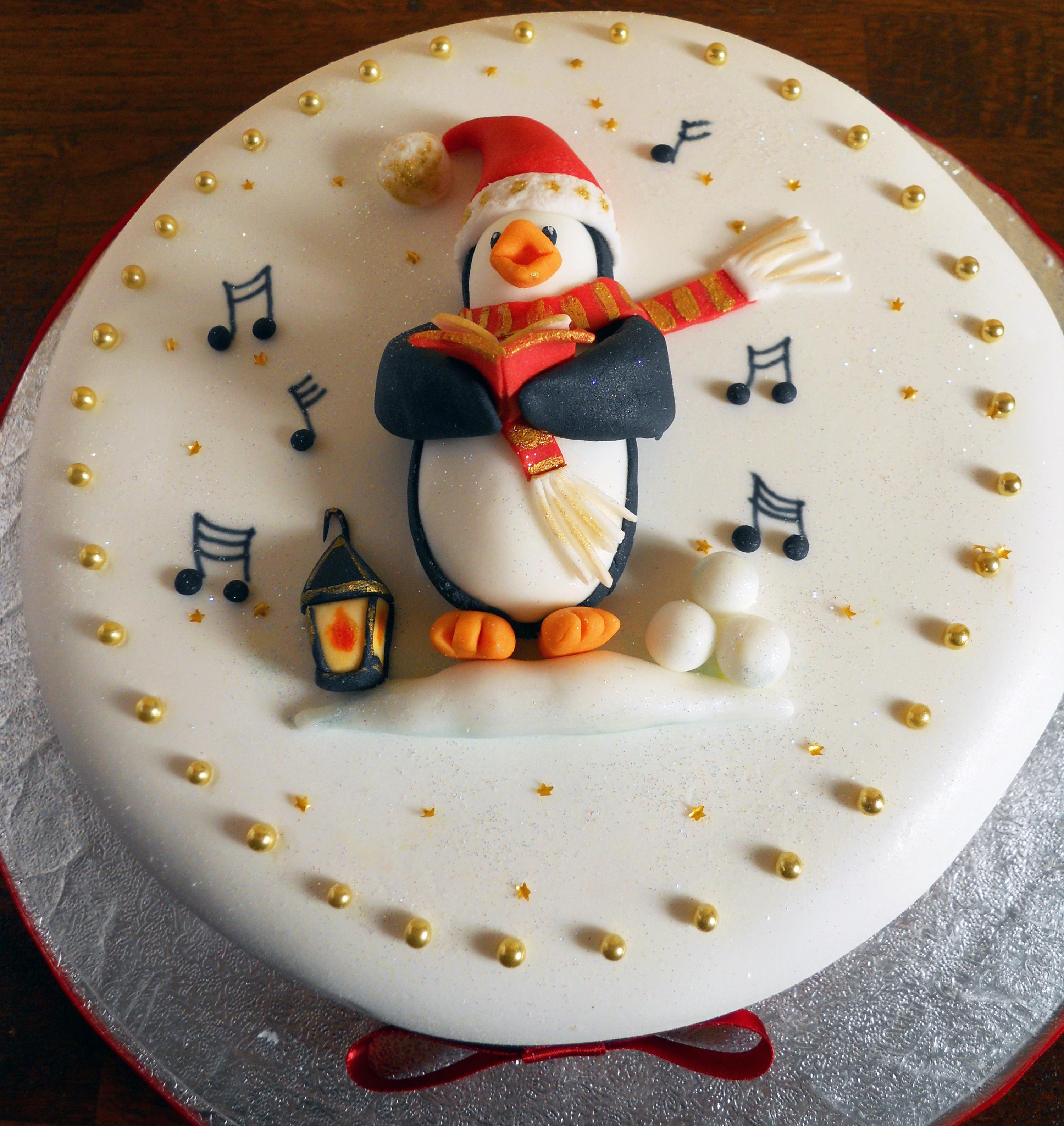 Christmas Cakes Images  Penguin Carol Singer Christmas Cake – Orders now being taken