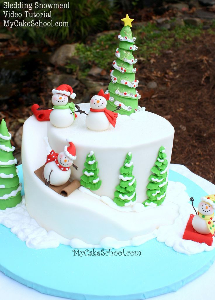 Christmas Cakes Images  Best 25 Winter cakes ideas on Pinterest
