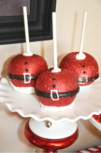 Christmas Candy Apples  Sparkly caramel apples at a Christmas party See more
