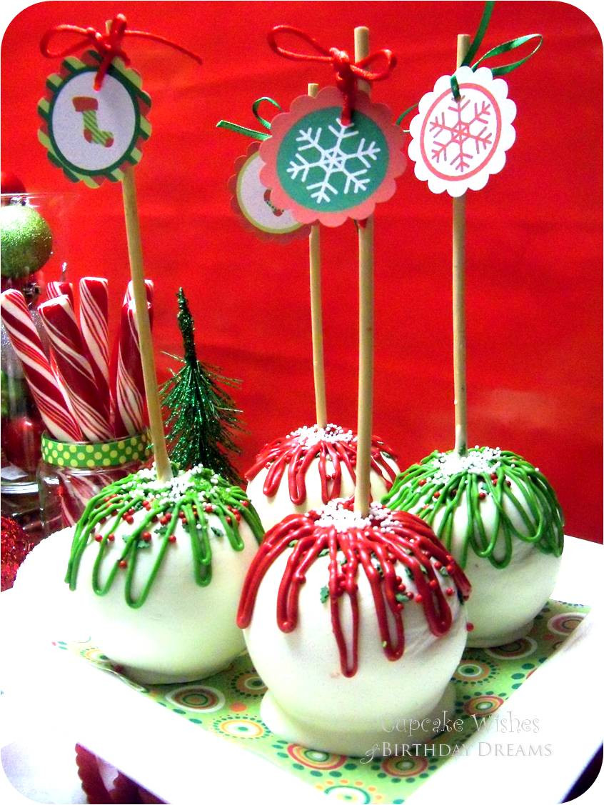 Christmas Candy Apples  Cupcake Wishes & Birthday Dreams Snowflakes & Stockings