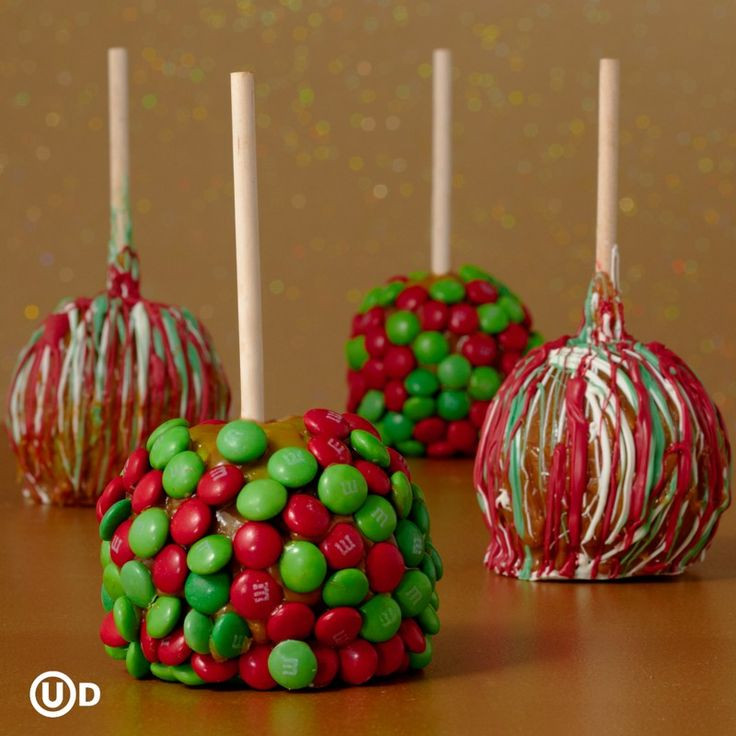 Christmas Candy Apples  christmas candy themes