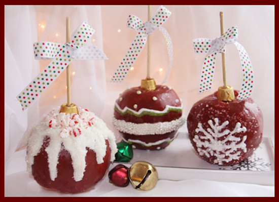 Christmas Candy Apples  Christmas Ornament Caramel Apples