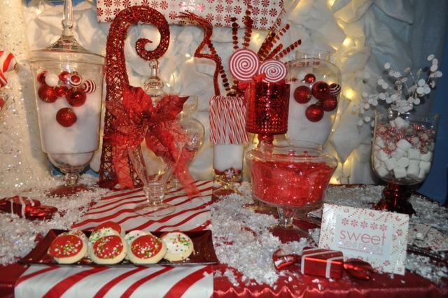 Christmas Candy Bar  sweeteventdesign