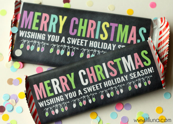 Christmas Candy Bar Wrappers  FREE Christmas Prints