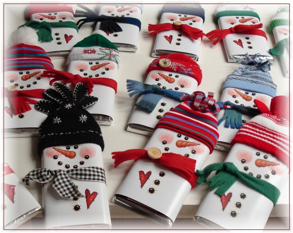 Christmas Candy Bar Wrappers  Printable Snowman Candy Bar Wrappers – Home and Garden
