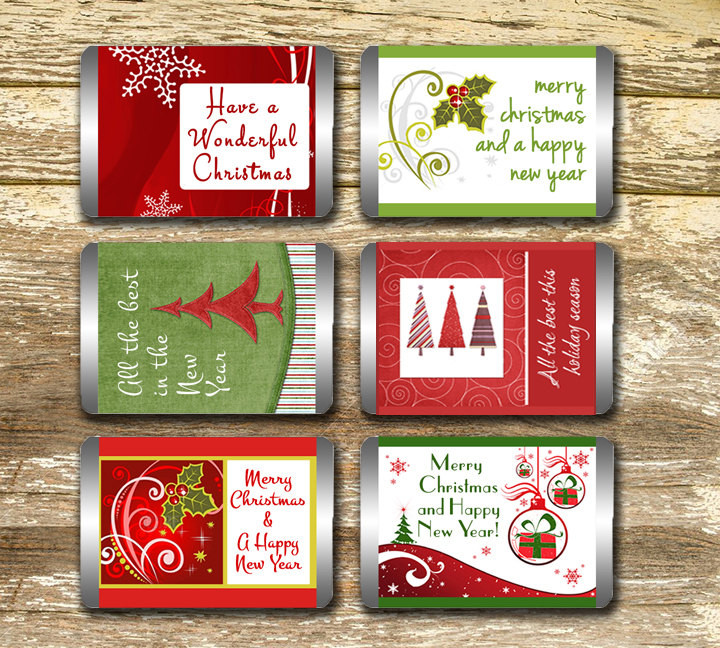 Christmas Candy Bar Wrappers  Mini Candy Bar Wrappers Christmas Candy Wrappers Christmas