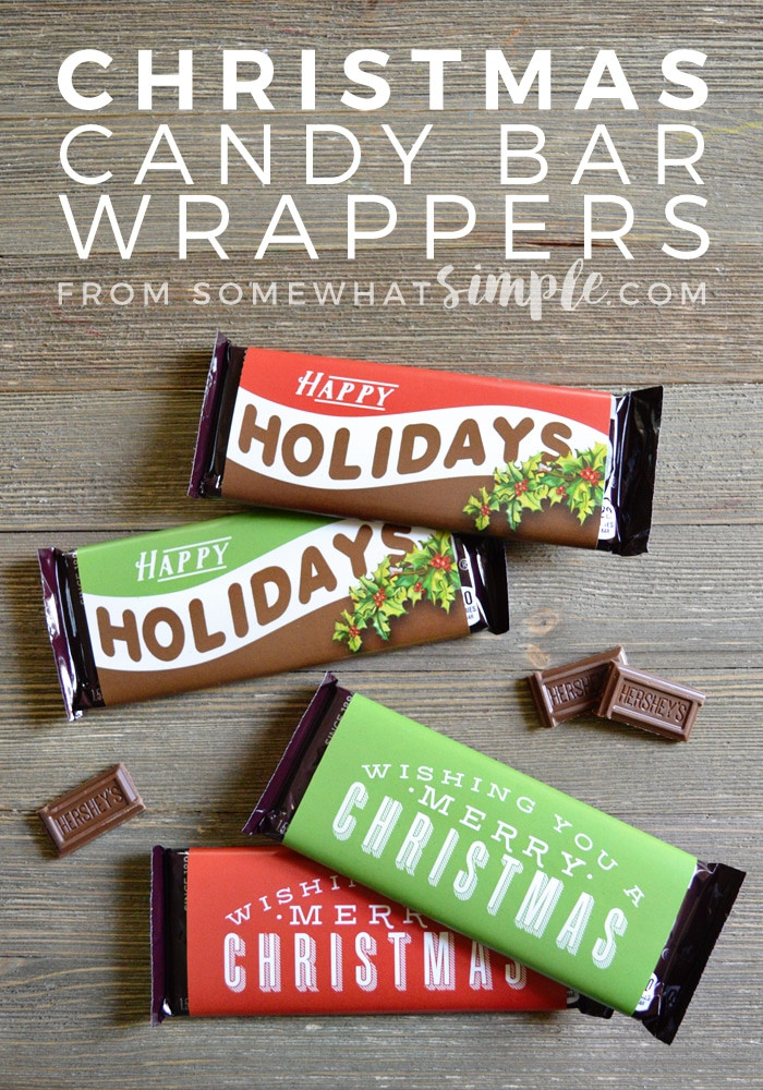 Christmas Candy Bar Wrappers  Christmas Candy Bar Wrappers Printable Somewhat Simple