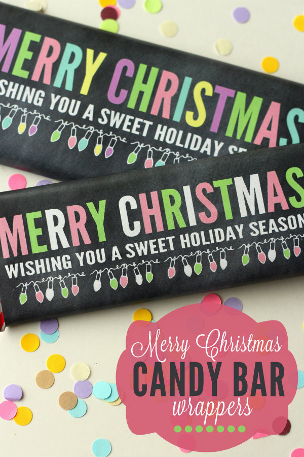 Christmas Candy Bar Wrappers  Christmas Cookie Jar Gift Idea