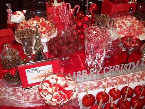 Christmas Candy Bars  Wedding Candy Buffet Ideas