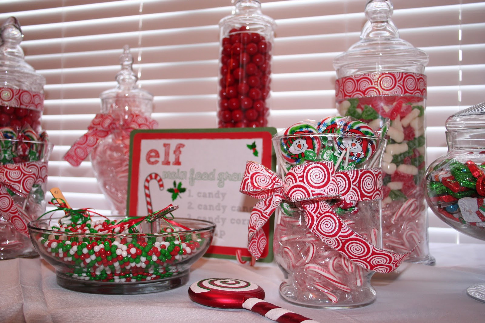 Christmas Candy Bars  Classic Events By Kris Christmas Candy Buffet