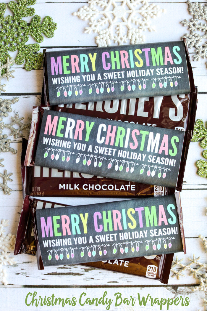 Christmas Candy Bars  Christmas Candy Bar Wrappers