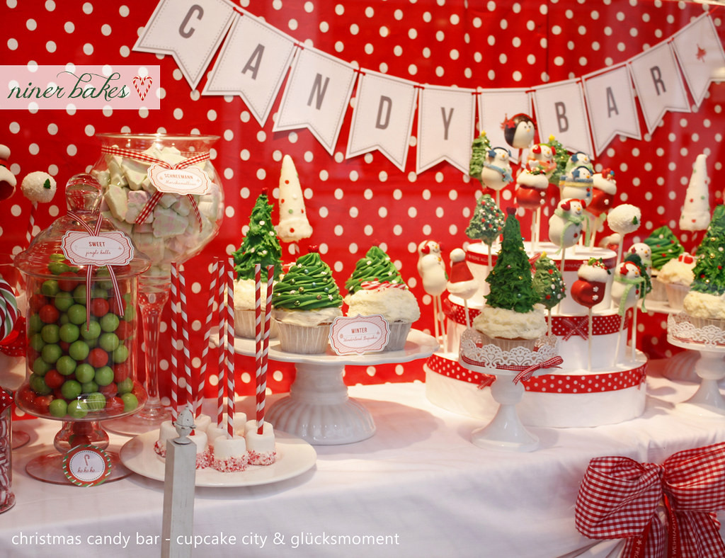 Christmas Candy Bars  Christmas Candy Bar Sweet Table