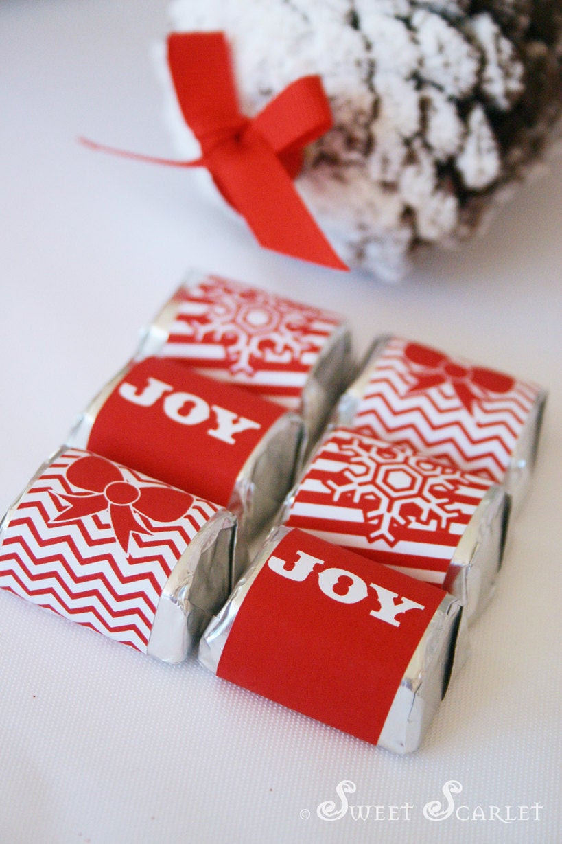 Christmas Candy Bars  CHRISTMAS Printable Candy Bar Wrappers and Straw Flags Let