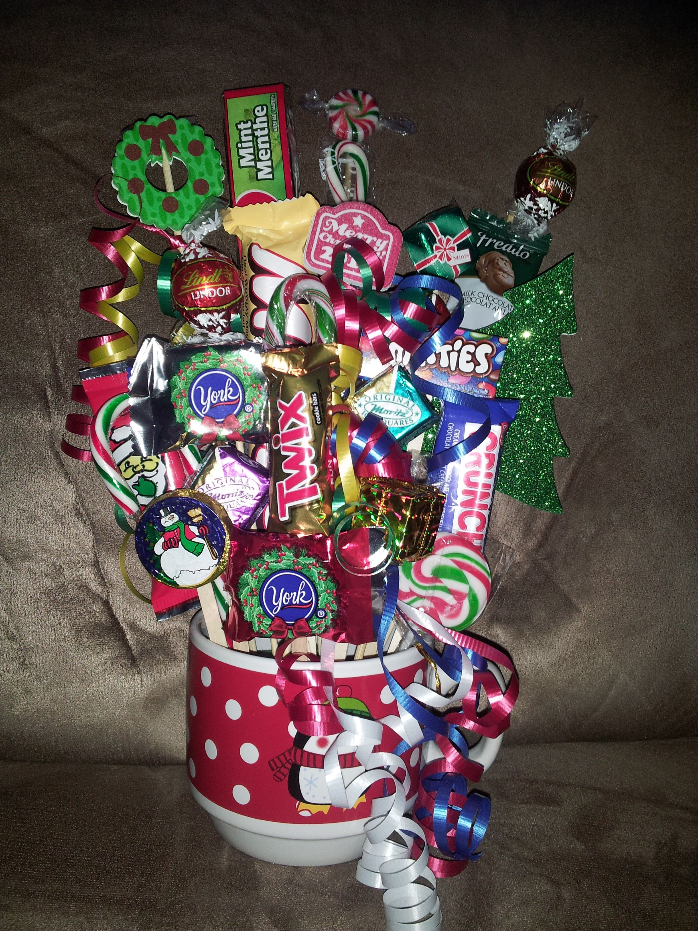 Christmas Candy Baskets  Christmas Candy Bouquet