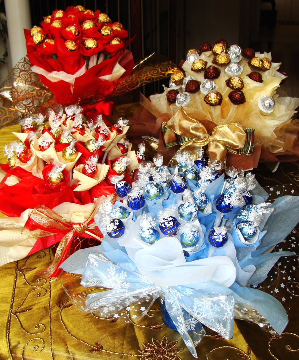 Christmas Candy Baskets  Finest Expressions New Holiday Candy Bouquets Have Arrived