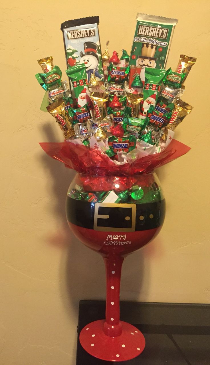 Christmas Candy Baskets  17 Best images about Creative Candy & Food Gifts on