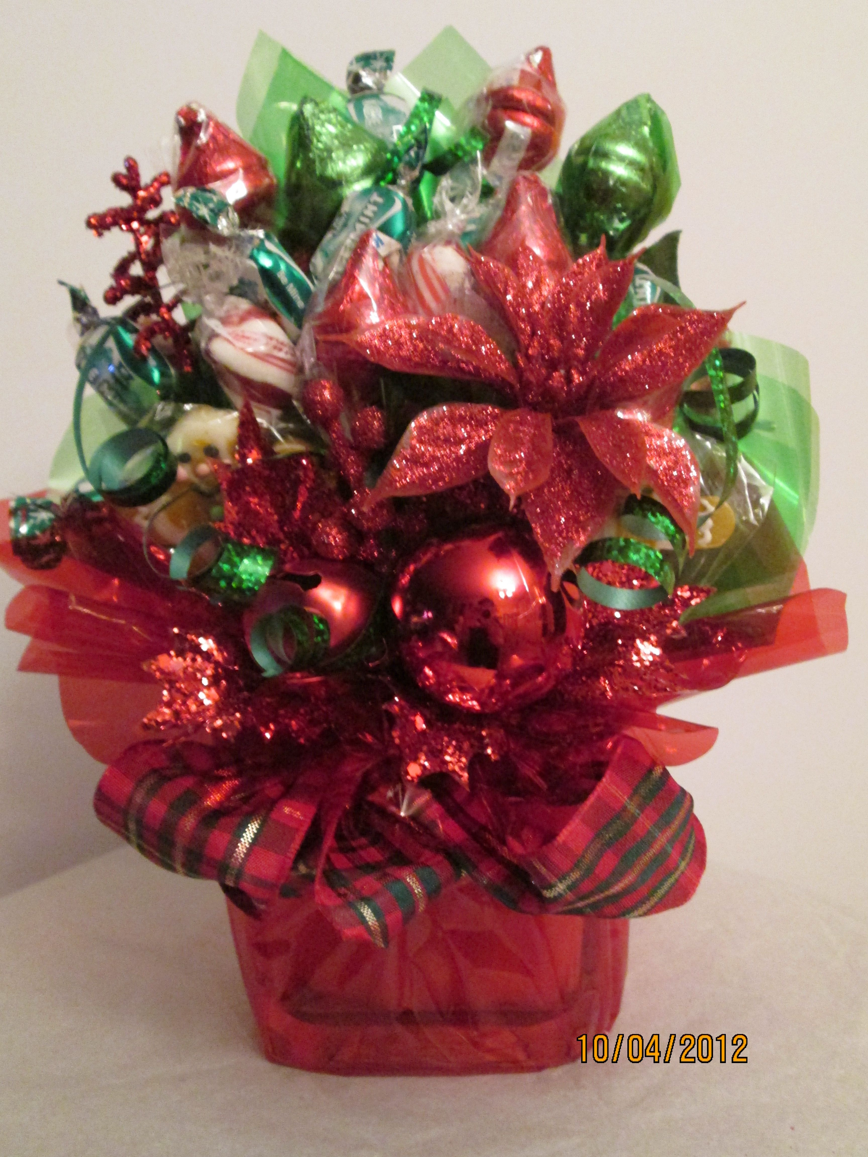 Christmas Candy Baskets  Christmas small candy bouquet by Ana