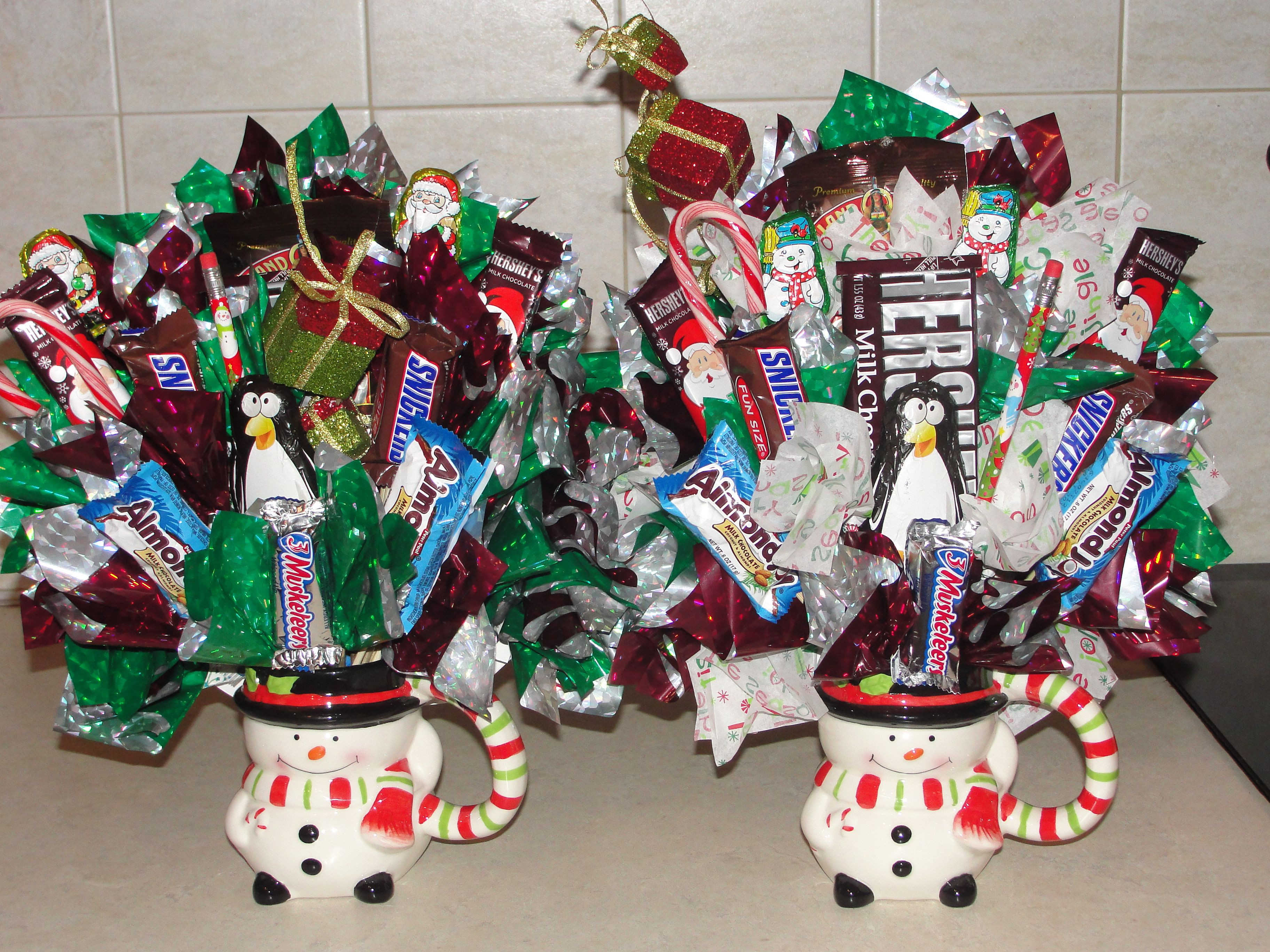 Christmas Candy Baskets  Christmas Bouquets Candy Bouquets