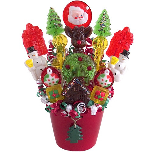 Christmas Candy Baskets  Christmas Lollipops Bouquet Everything 4 Christmas