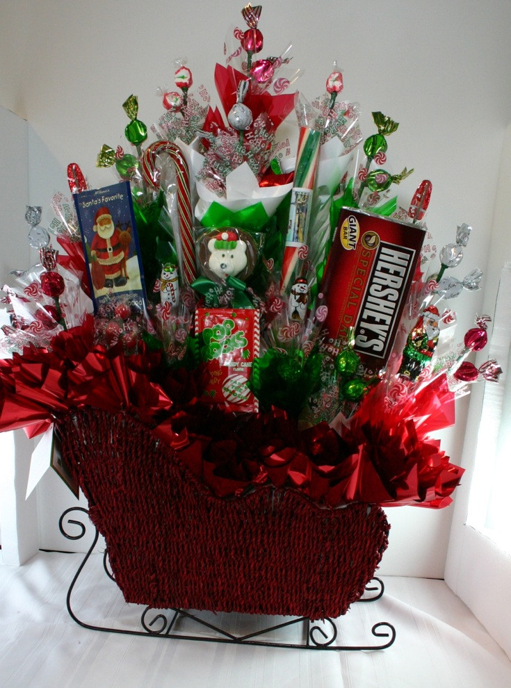 Christmas Candy Baskets  Old Fashion Christmas Can s
