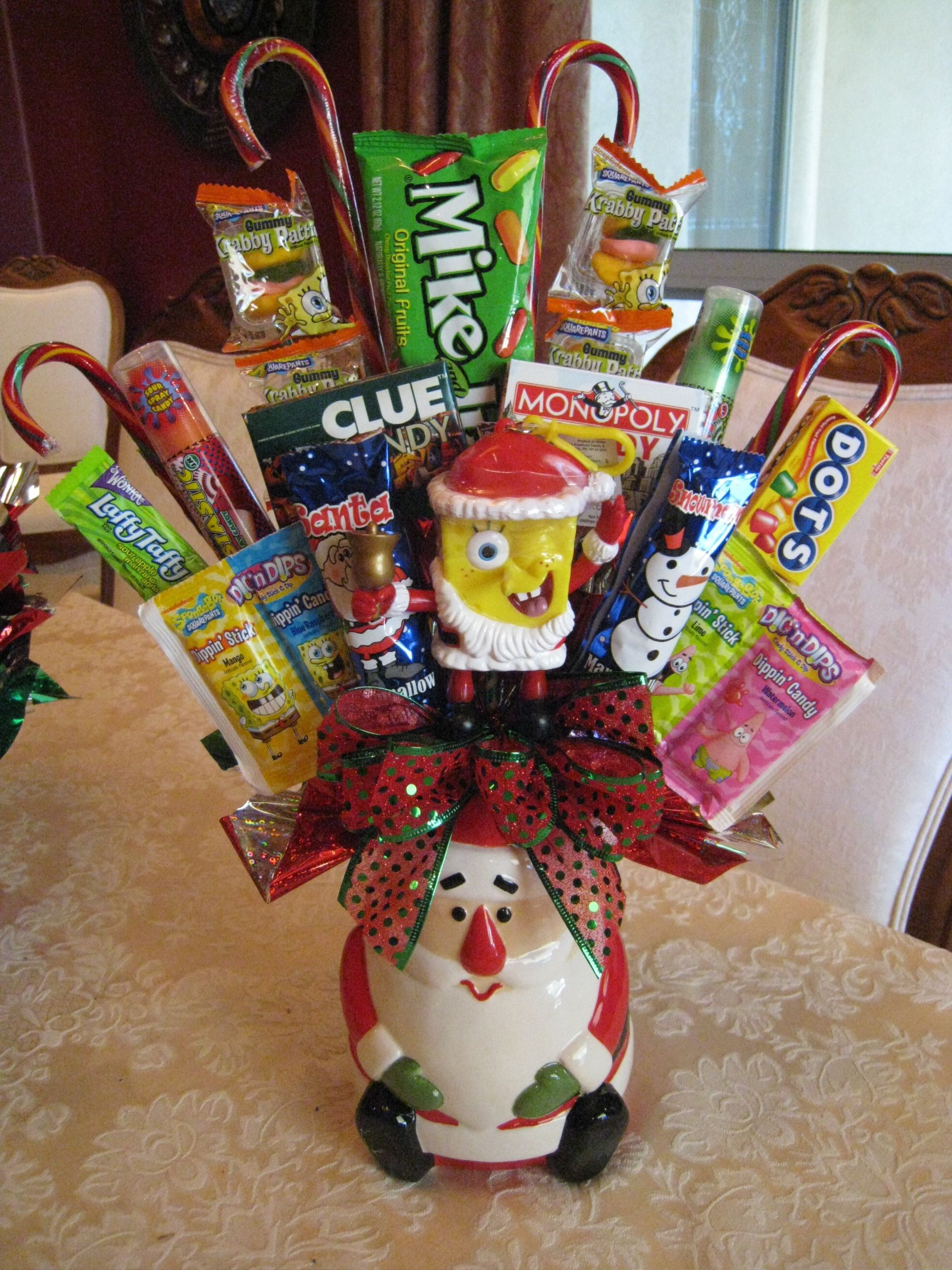 Christmas Candy Baskets  Christmas Candy Bouquet Becky s Creations