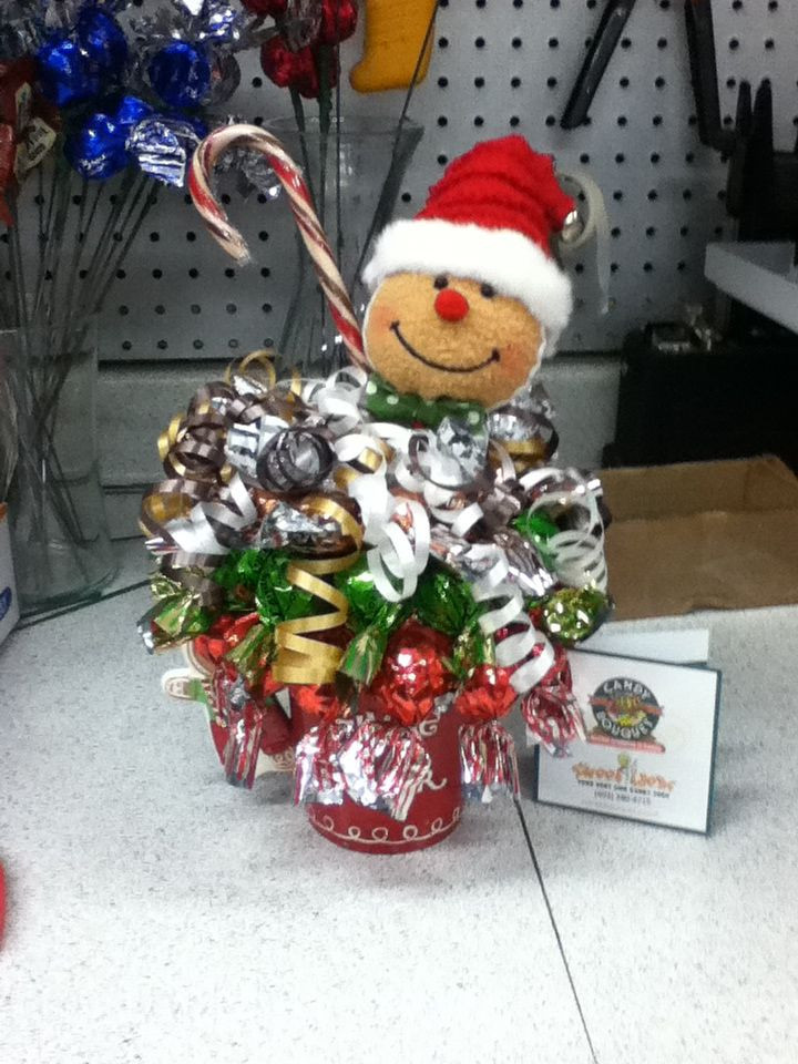 Christmas Candy Bouquets  Gingerbread Man candy bouquet sundae Sweet Ideas