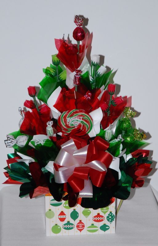 Christmas Candy Bouquets  Christmas Bouquet Candy bouquets Pinterest