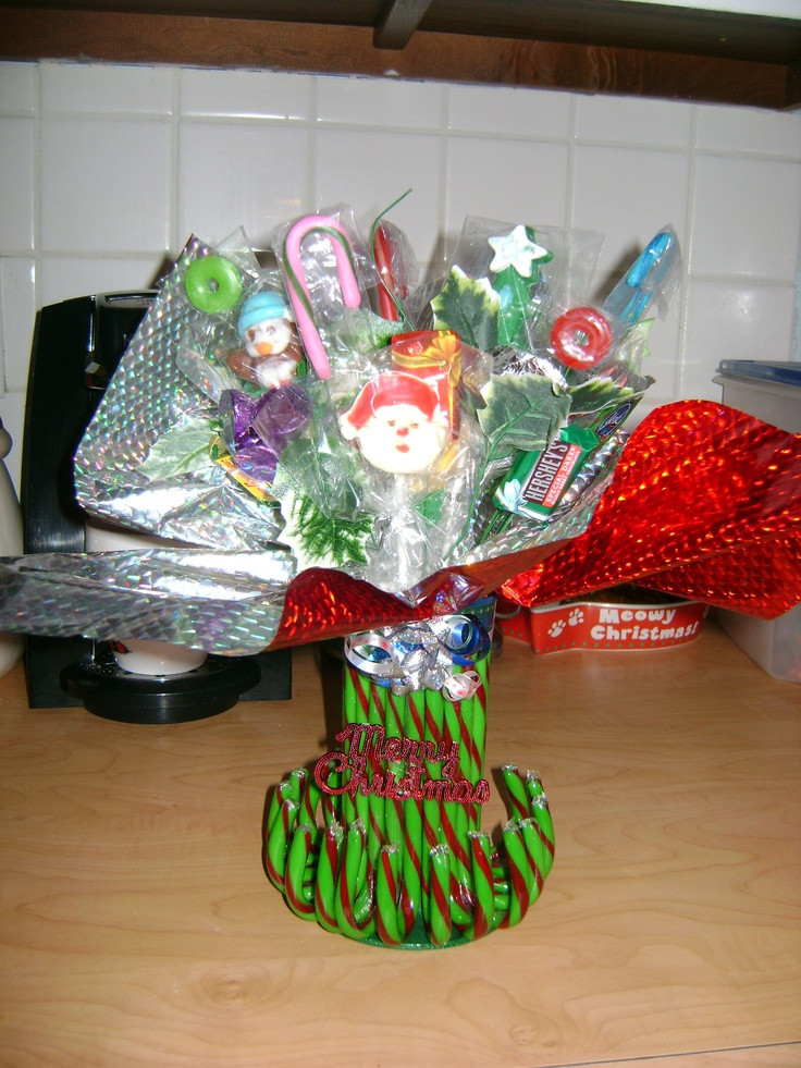 Christmas Candy Bouquets  Christmas candy boquet that Aunt Dee made for us