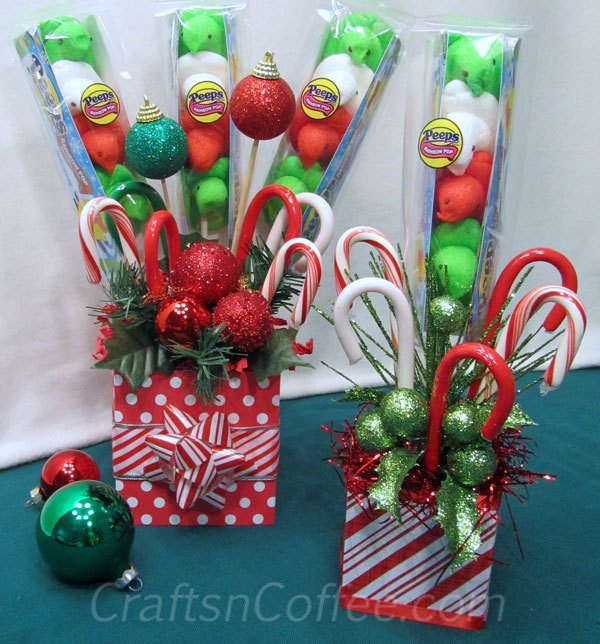 Christmas Candy Bouquets  Beyond the Fringe It s a Holly Jolly Sleigh Ride 3
