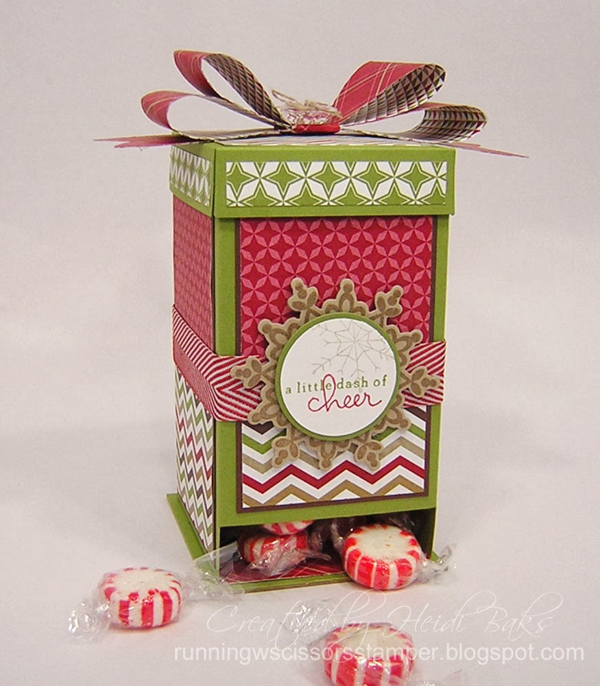 Christmas Candy Boxes  RunningwScissorsStamper Christmas Candy Dispenser Box