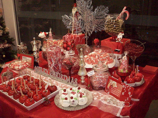 """Christmas Candy Buffet  """"I Do """" Northern California Style Wedding Candy Buffets"""
