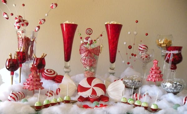 Christmas Candy Buffet  Under the Mistletoe Christmas Candy and Sweet Buffet