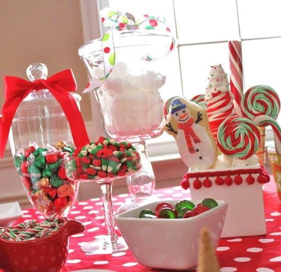 Christmas Candy Buffett  Christmas candy buffet Candy Buffets